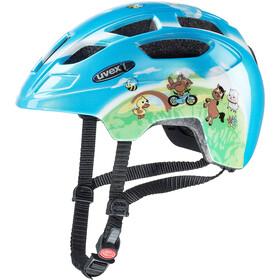 UVEX Finale - Casque de vélo Enfant - LED bleu/Multicolore